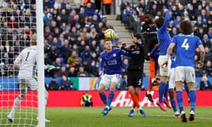 Chelsea's Antonio Rudiger heads in the opening goal.