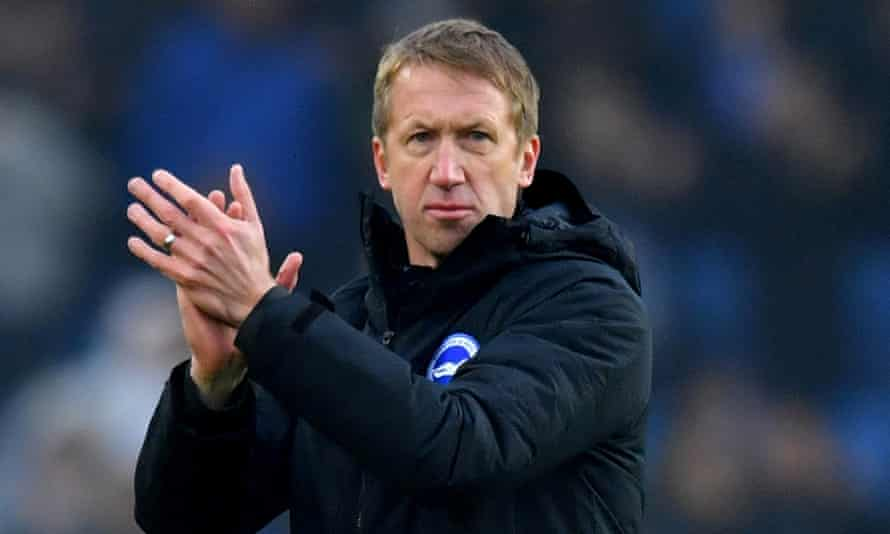 Brighton's head coach, Graham Potter, is among those to have taken a voluntary pay cut for April, May and June.