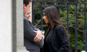 Kim Kardashian arrives for meetings at the White House.