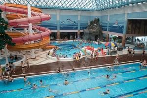 Swimming pool and slide