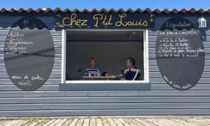 Chez P'tit Louis oyster shack.