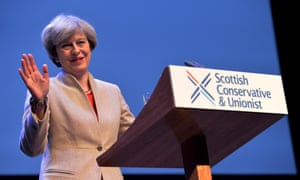 Theresa May in Glasgow