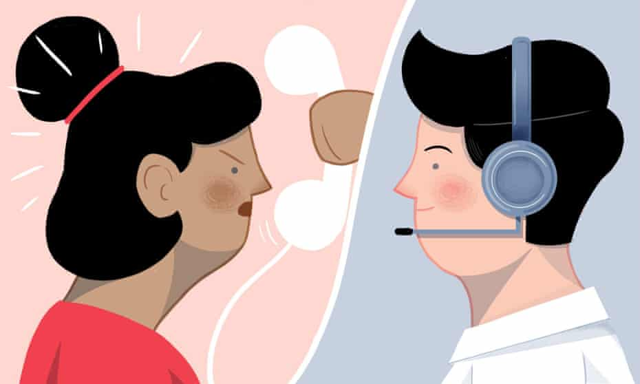 Secret life of a call centre worker - Illustration by Michael Driver