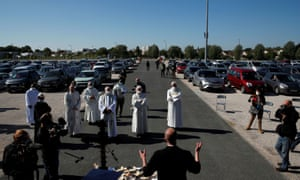 A drive-in mass in France