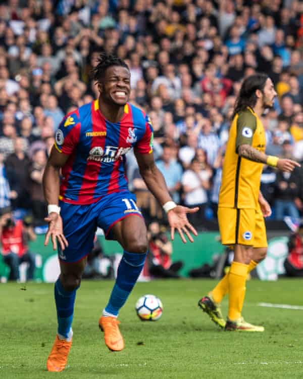 Wilfried Zaha scored twice for Crystal Palace against Brighton in the same fixture last season.