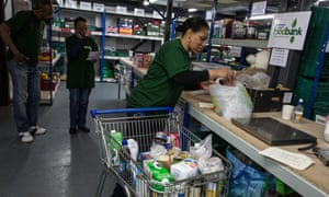 The Trussell Trust central food bank, Birmingham: the trust says demand for its parcels has increased by 30% since April in areas where the introduction of universal credit is at its most advanced.