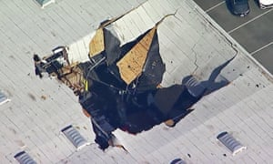 An F-16 fighter jet crashed into a warehouse about 65 miles east of Los Angeles on Thursday.