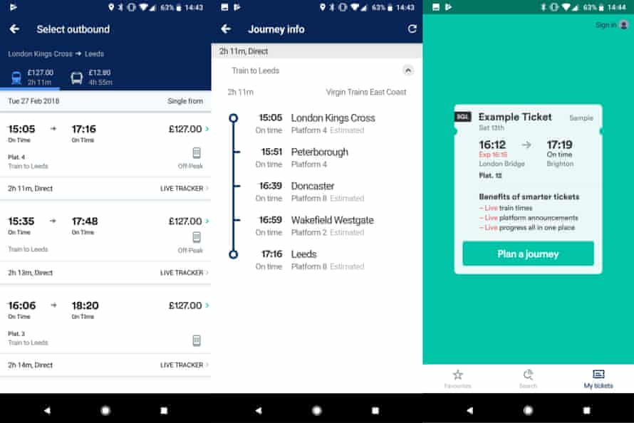 The Trainline app gives live departure information plus helps you find the cheapest rail tickets.