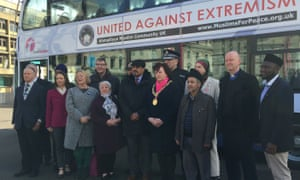 Representatives of faith groups and politicians at the campaign launch in Glasgow.