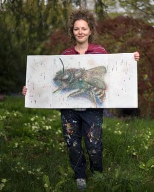 Freya Cohen's pollinator artowrk for Grow Wild