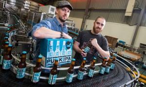 Beer money: BrewDog founders James Watt, left, and Martin Dickie in the new Ellon, Aberdeenshire brewery.