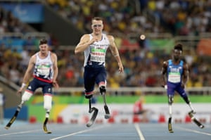Great Britain's Richard Whitehead wins gold in the men's 200m T42 final