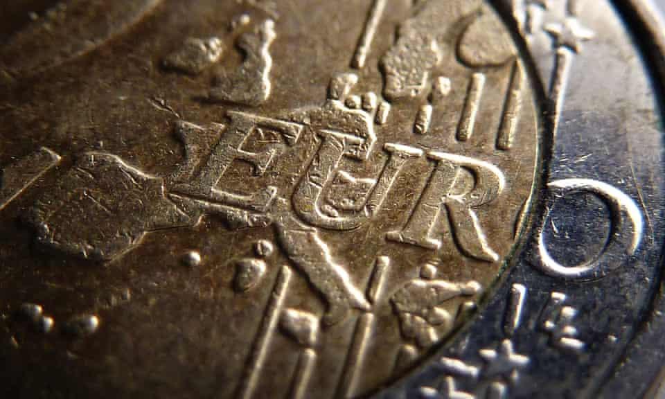 A two-euro coin