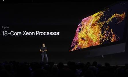 Apple's John Ternus speaks about the new iMac Pro.
