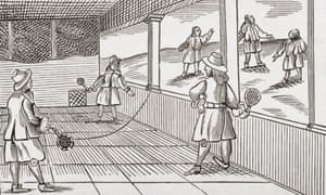 A game of tennis in the 16th century.
