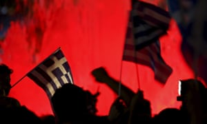 Syntagma square in Athens, Greece during the 2015 referendum