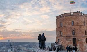 Gediminas tower, Vilnius, at dusk