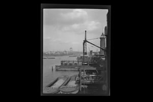 London, c.1930 St. Pauls Cathedral, view from the Southbank across the river, construction taking place in the foreground, quarter plate, approx. 108mm x 83mm negative image £200-£300