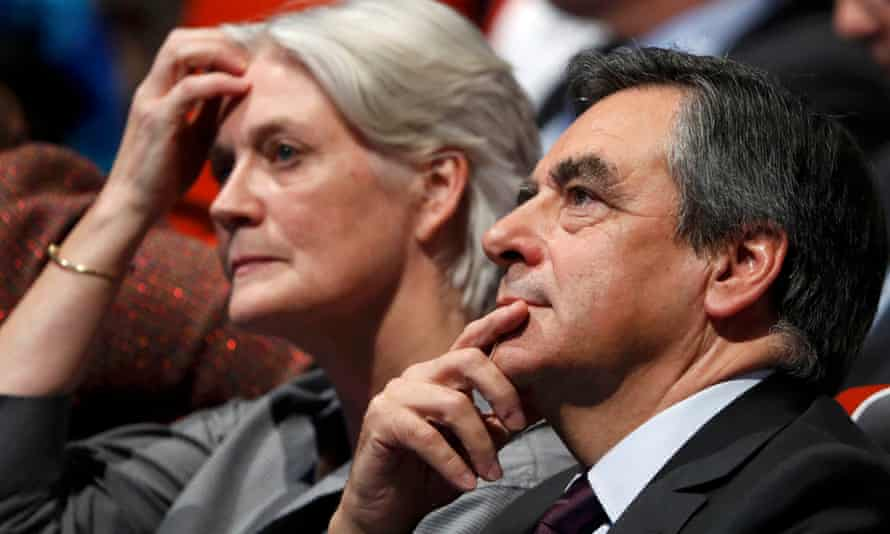 Fillon, with his Welsh wife, Penelope Clarke