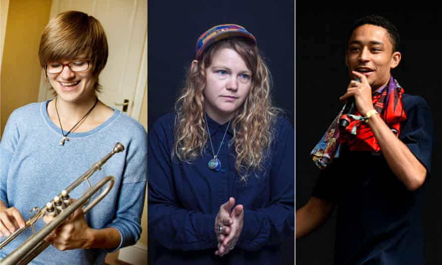 Dinosaur frontwoman Laura Jurd, Kate Tempest and Loyle Carner.