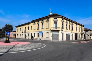 Streets were almost deserted after the Italian town of Codogno was placed under lockdown