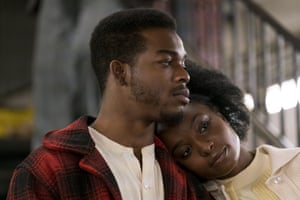 Stephan James and KiKi Layne in If Beale Street Could Talk.