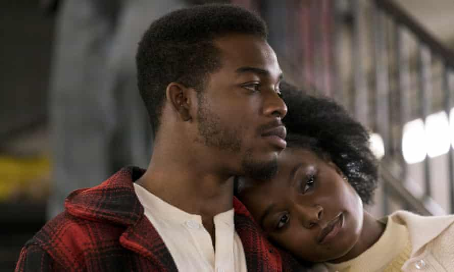 Layne as Tish with Stephan James as Fonny in If Beale Street Could Talk.