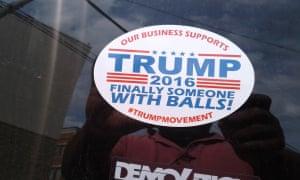 Trump window sticker in Muncie.