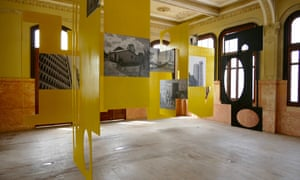 An exhibition inside Casa Ronald, an early 20th-century townhouse that has been restored as an arts hub
