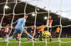 Pedro Neto scores Wolves's first goal in the comeback win.