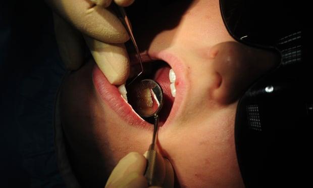 Child has dental work done