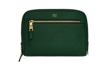 Personalised leather washbag, £130monpurse.com
