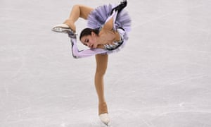 It's so easy when you're moving ... world champion figure skater Alina Zagitova. Photograph: Aris Messinis/AFP/Getty Images