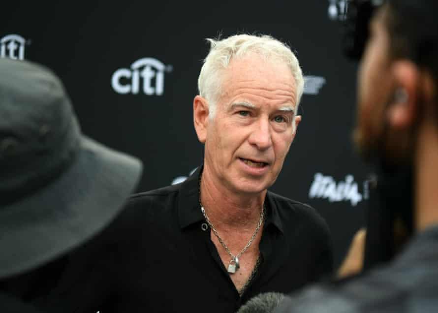 John McEnroe in New York last month.