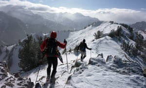 Winter weather snow hiking Alaska California