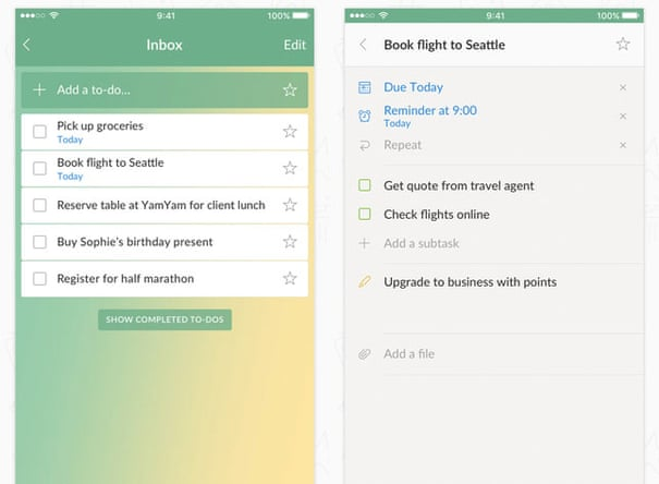 Seven of the best to-do list apps | Technology | The Guardian
