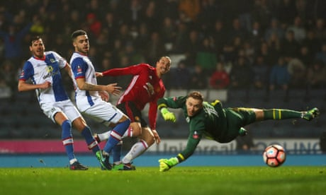 Manchester United's Zlatan Ibrahimovic comes on to finish off Blackburn