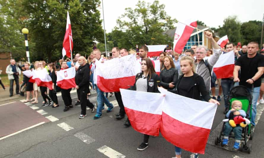 The silent march held in Harlow, Essex in tribute to Polish national Arkadiusz Jóźwik.