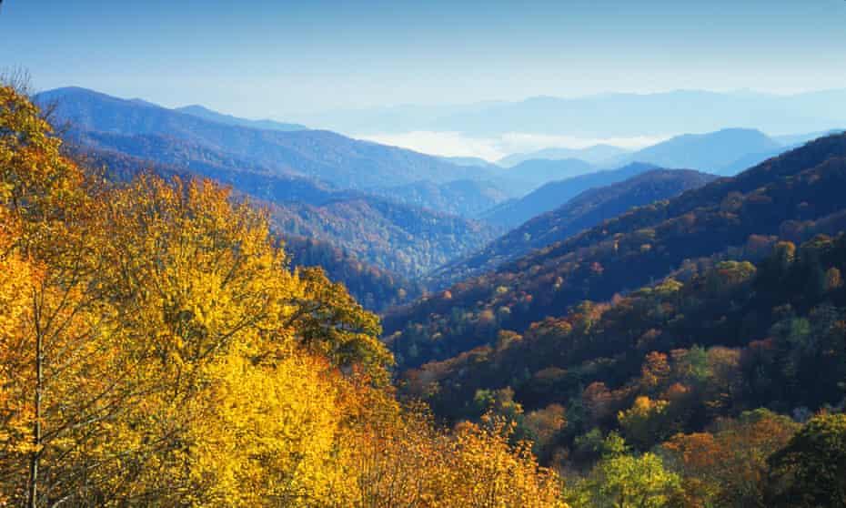 The Smoky Mountains in autumn.