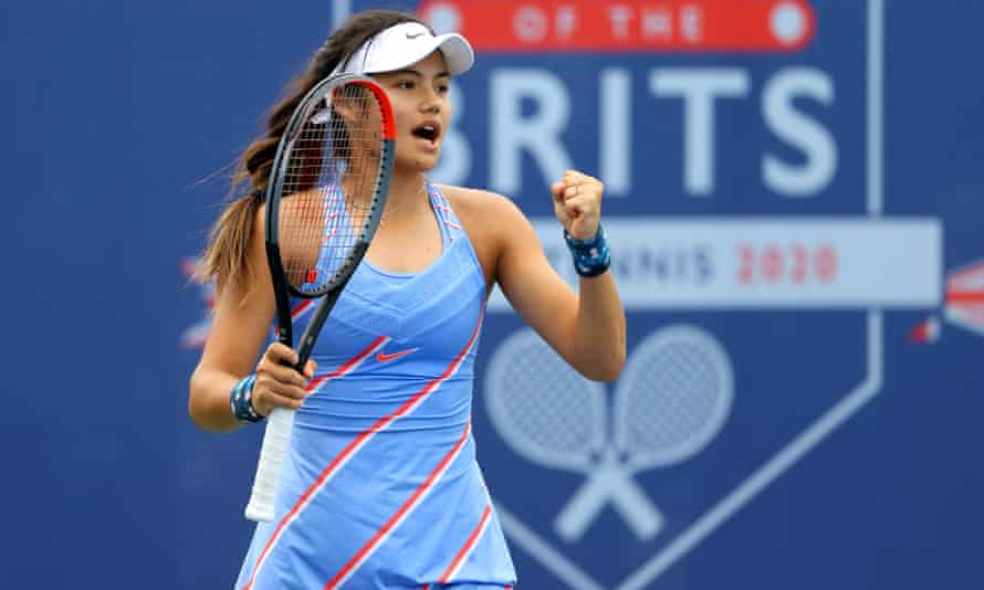 Emma Raducanu, 18, is one of the brightest prospects in British tennis.
