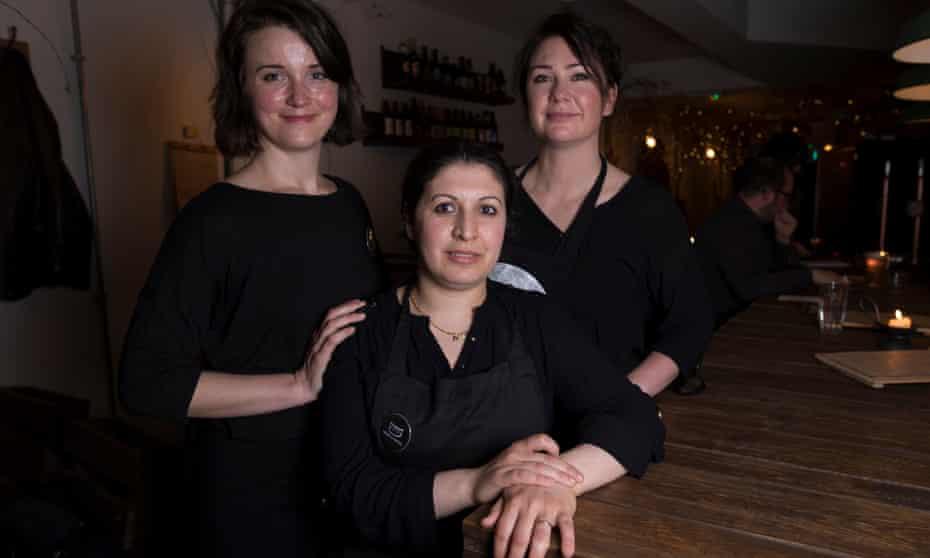 Recipe for success: Heart and Parcel's Clare Courtney, Laila Cheikhmousa and Karolina Koscien.