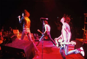 The Ramones play the Rainbow theatre in London on 31 December 1977 – the show that was recorded for the album It's Alive.