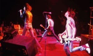 Live and direct … the Ramones, mid-gig.