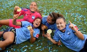 Sydney's Aubrey Bledsoe, Sofia Huerta, Danielle Colaprico and Caitlin Foord