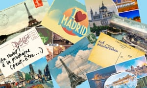 Glad you're not here: imaginary postcards from European cities reflect EU27 countries' hardline stance.