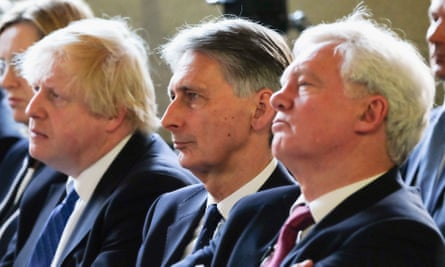 From left: Boris Johnson, Philip Hammond and David Davis