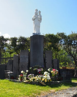 Hail Mary: the Madonna statue at Zafferana, believed to have stopped the flow of lava in 1991.