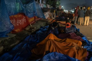 Garment workers camp out in front of the Dhaka Press Club