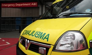 The ambulance had gone to the scene on the A40 after a car hit a pedestrian on Saturday night.