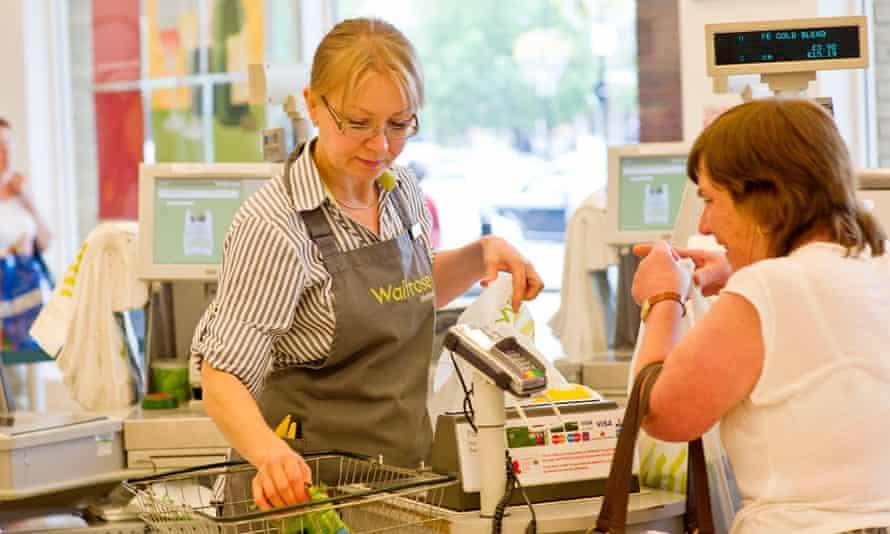 A Waitrose checkout
